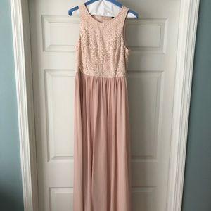 Maxi blush pink dress
